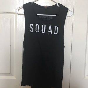 "Workout ""SQUAD"" Tank Top"